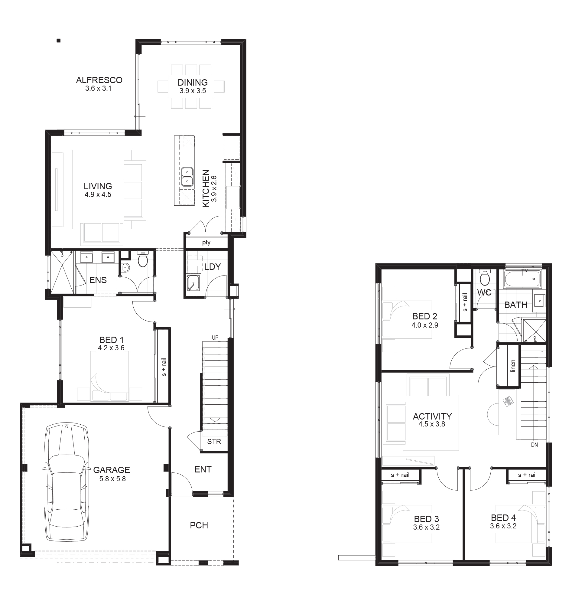 Narrow Block House Plans Wa - rts - ^