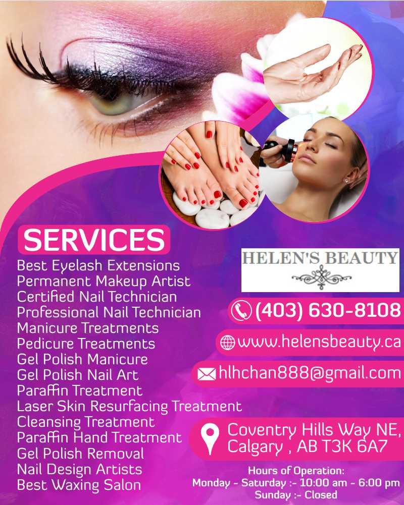 Helen 39 s beauty spa semi permanent makeup calgary for About u salon calgary