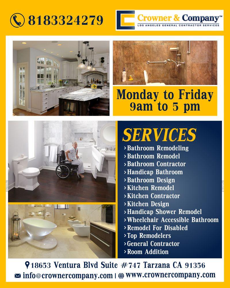 Crowner Company Construction Bathroom Remodeling
