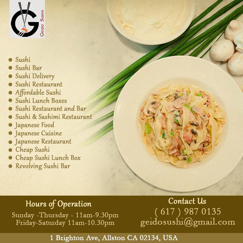 Geido Sushi   Japanese Food in Allston