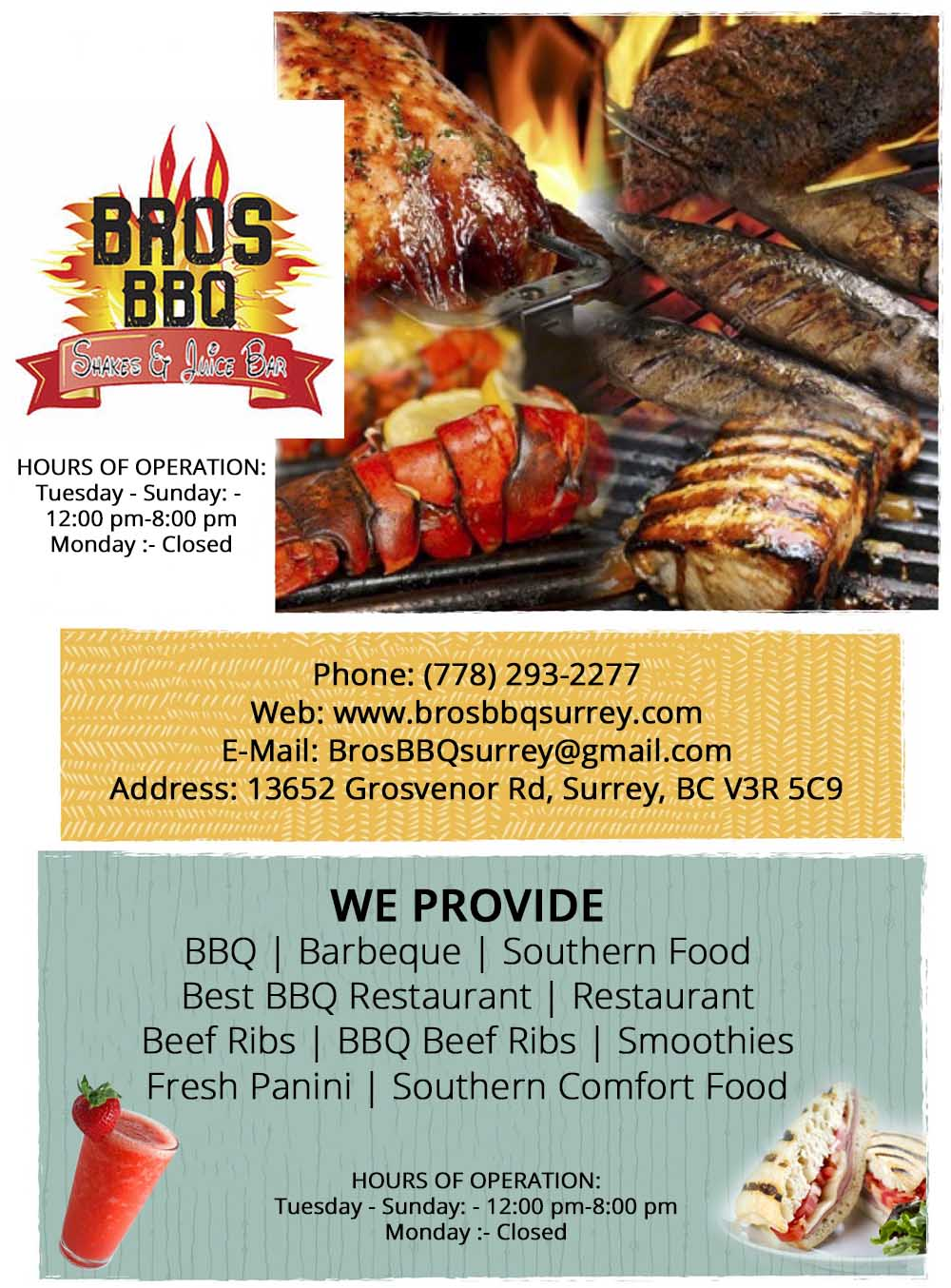 Bros BBQ Take Out | Best Barbeque Surrey