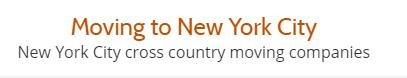 New York City moving companies