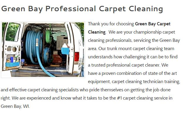 Green Bay Carpet Cleaning