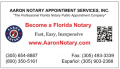 AARON NOTARY APPOINTMENT SERVICES INC