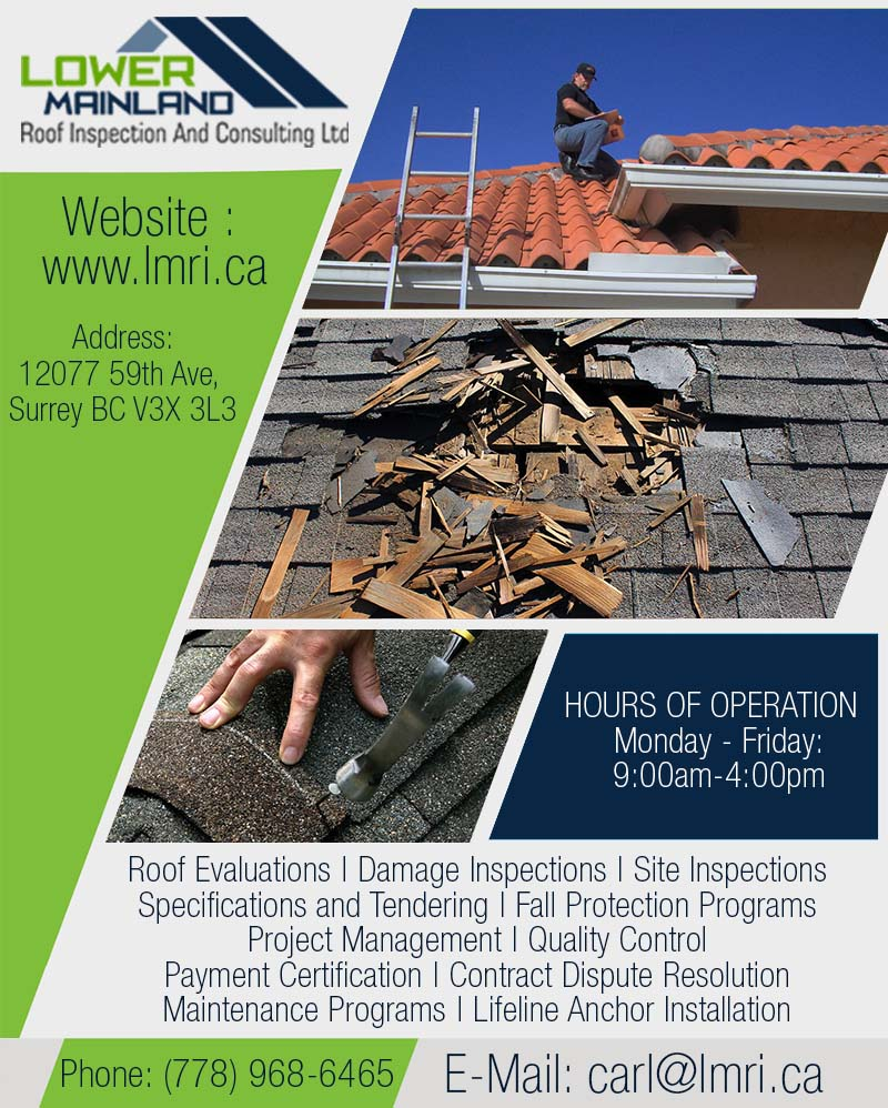 Dispute with roofing contractor in Surrey   Lower Mainland Roof Inspection and Consulting Ltd