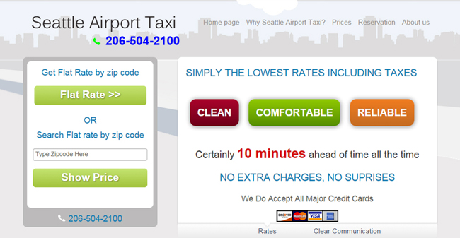 Flat Seattle Airport Taxi